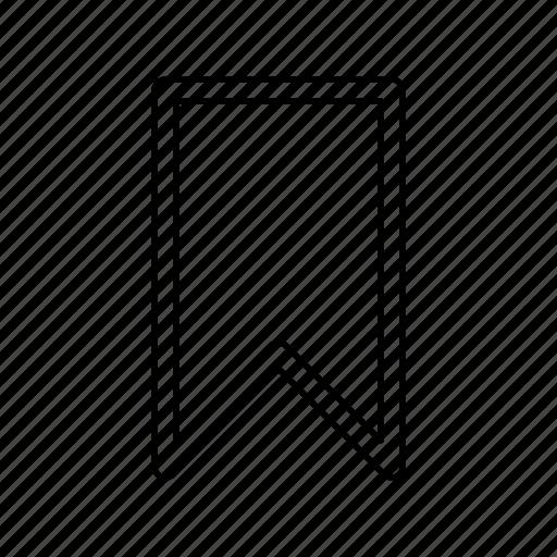 bookmark, ribbon icon