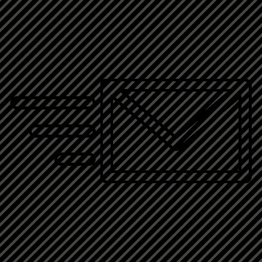 inbox, message, send icon