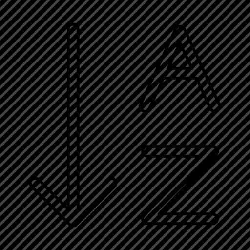 alphabet, arrange, order icon