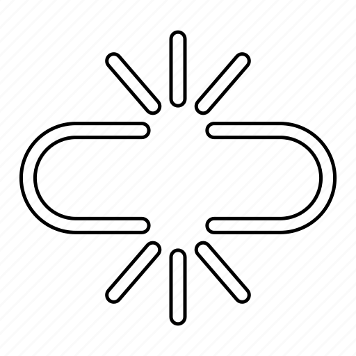 broken, link, separate, social icon