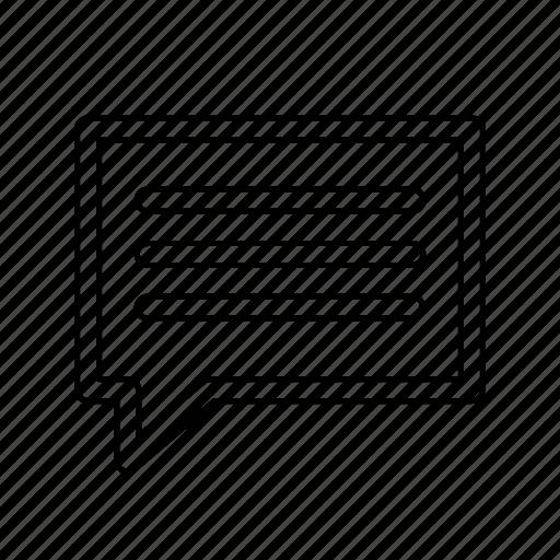 feedback, message icon