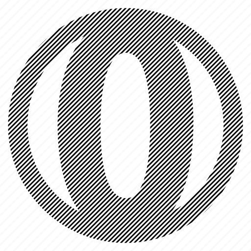 alphabet, character, o, round icon