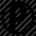 alphabet, character, p, round icon