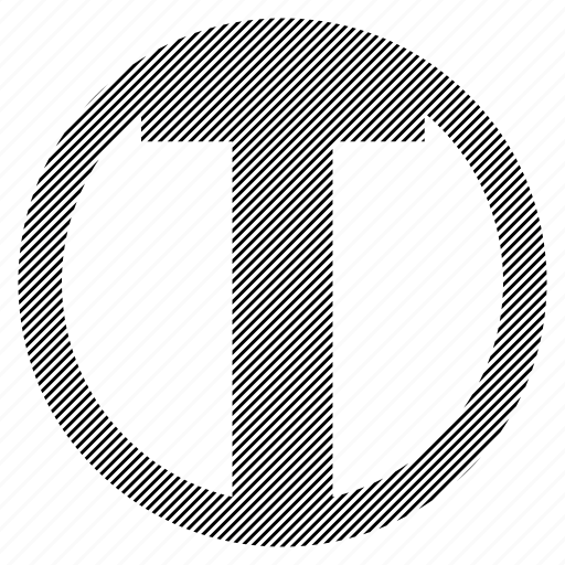 alphabet, character, round, t icon
