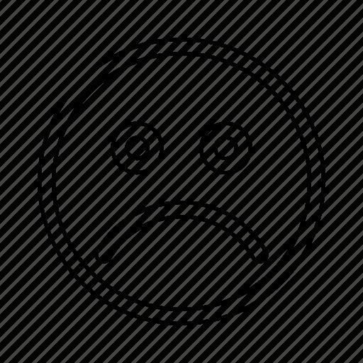 face, unhappy icon