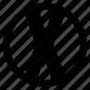 alphabet, character, round, x icon