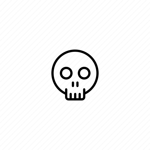bones, dead, death, halloween, scary, skeleton, skull icon