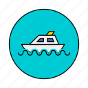 boat, craft, stimmer, titanic icon