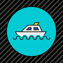 boat, craft, stimmer, titanic icon
