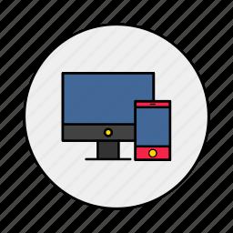 computer, electronics, laptop, mobile icon