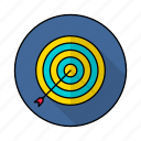 achivement, aim, dartboard, goal, target icon