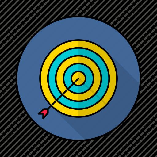 achivement, aim, dartboard, goal, target icon