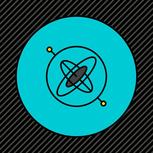 angle, gyro, gyroscope, position icon