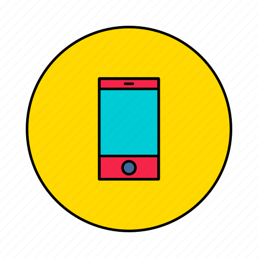 device, electronics, mobile, phone icon
