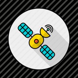 gps, planet, satellite, space icon