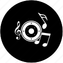 car, music, sound, speaker icon