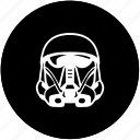 dark, flight, helmet, side, soldier, star, wars icon