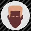 avatar, face, man, negro icon