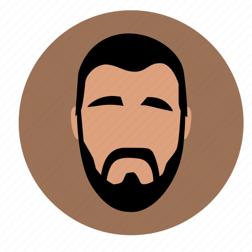 avatar, beard, face, man, skin icon