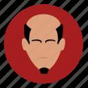 avatar, china, face, round, samurai icon