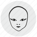 alien, avatar, face, mask, skin icon