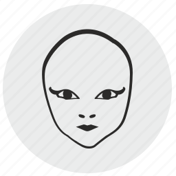 alien, avatar, face, mask, skin icon