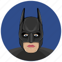 avatar, batman, comics, hero, mask, round icon