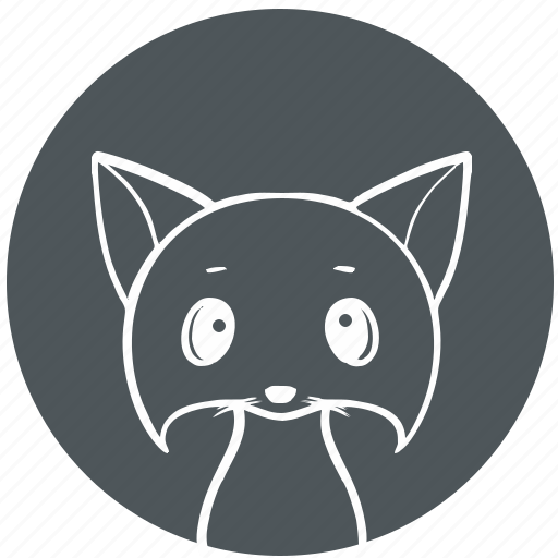 avatar, cartoon, cat, face, kitty icon
