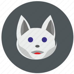 animal, avatar, cat, hero, kitty, mask icon