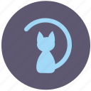 avatar, cat, form, kitty, round icon