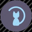 avatar, cat, form, kitty, round icon