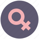 avatar, female, round, vagina, woman icon