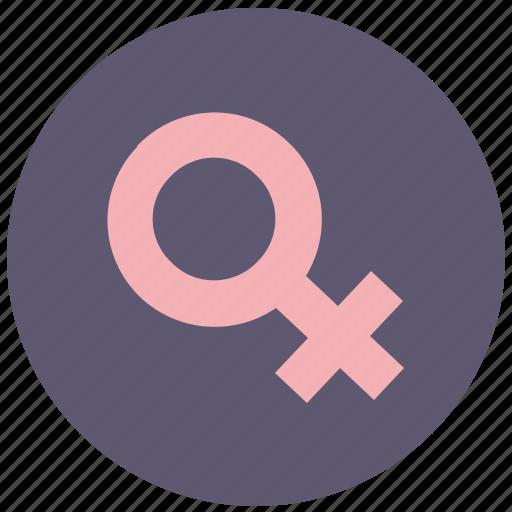 avatar, female, round, vagina, woman icon