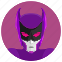 avatar, comics, hero, mask, pink, round icon