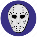 avatar, face, hockey, mask, round icon