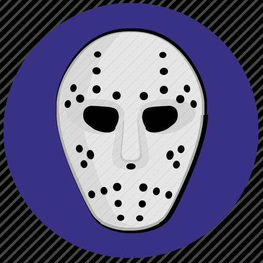 avatar, face, hockey, mask, round icon