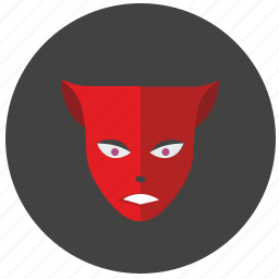 avatar, devil, face, hero, mask, red icon