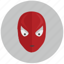 avatar, face, hero, man, mask, red, spider icon