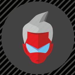 avatar, face, hero, man, rocket icon