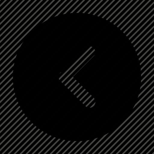 back, backward, left, previous, undo icon