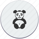 animal, bear, panda, toy icon