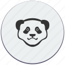 animal, bear, face, panda, think, zoo icon