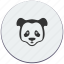 animal, bear, cry, face, panda icon