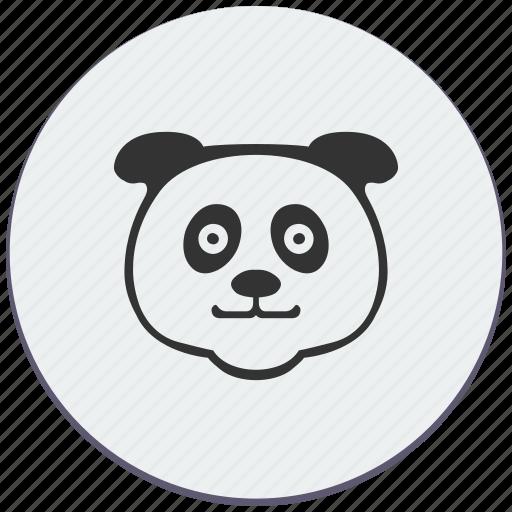 animal, bear, face, fat, head, panda icon