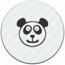 animal, bear, face, funny, head, panda, smile icon
