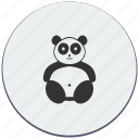 animal, bear, face, head, panda, zoo icon