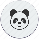 baby, bear, face, panda, toy icon