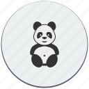 animal, bear, panda, toy, zoo icon