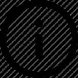infomration, rounded icon