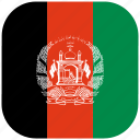 afghan, afghanistan, country, flag, national, rounded, square icon